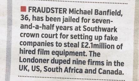 Michael Banfield Jailed